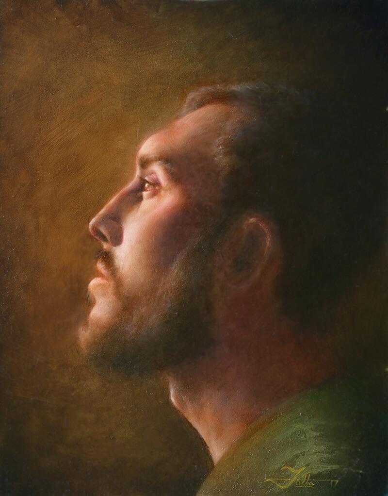 Oil painting portrait 2